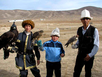 11 - Eagle, goshawk, shahin at hunting show in Kyrghizstan