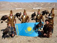 7 - Eagles and Kazakhs  at hunting show in Kyrghizstan