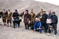 9 - Dogs and eagles at hunting show in Kyrghizstan