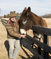 Sharing the hunting port with a donkey, Boyce, Virginia