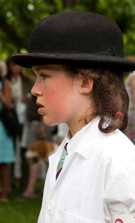 Junior handler at the hound show, Leesburg, Virginia